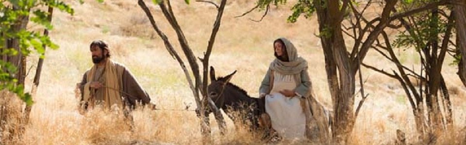 Joseph too went up from Galilee … to the city of David that is called Bethlehem … to be enrolled with Mary, his betrothed, who was with child. Luke 1:4-5