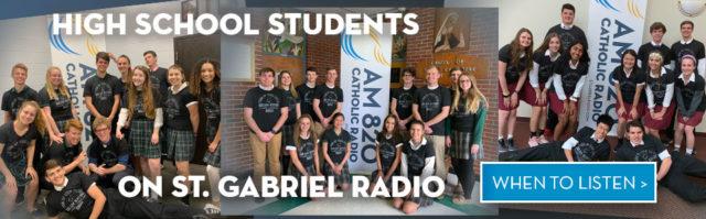High School Students on St. Gabriel Radio!