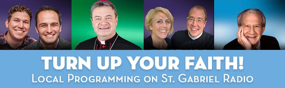 headshots of local show hosts on St. Gabriel Radio
