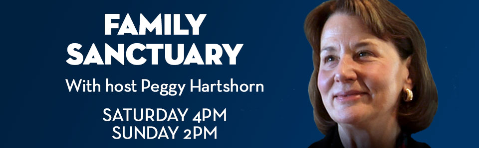 Peggy Hartshorn headshot for Family Sanctuary on St. Gabriel Radio