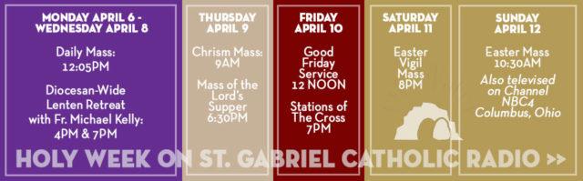 Holy Week Lenten Retreat and Masses