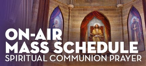 On air Mass schedule