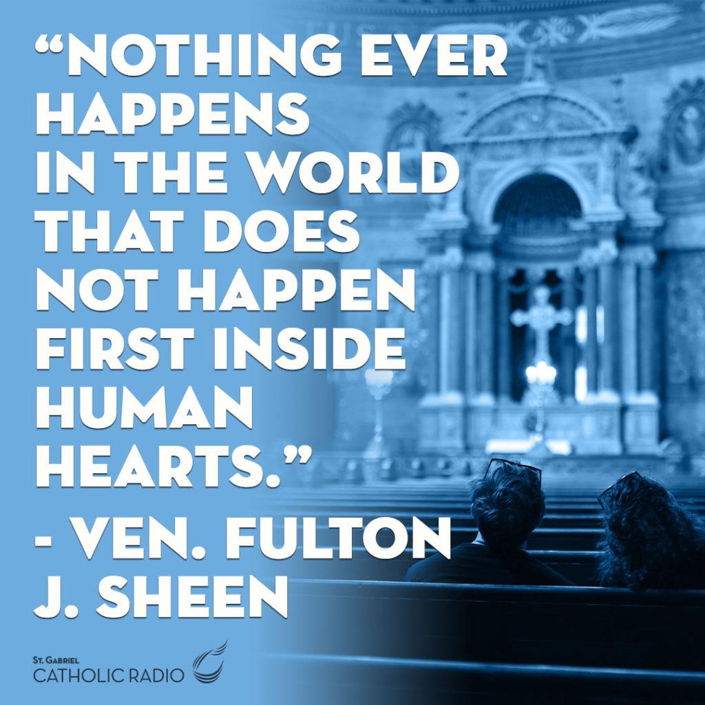 Ven. Fulton Sheen Quote