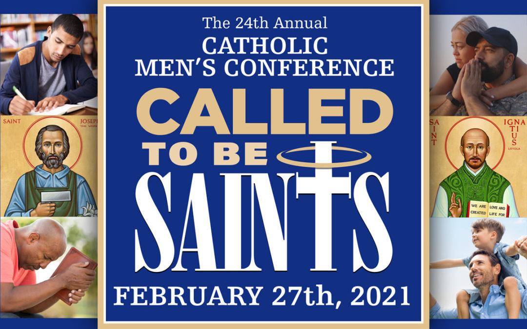2021 Men's Conference-Devin Schadt(2), Fr. Donald Calloway, Bishop Robert J. Brennan