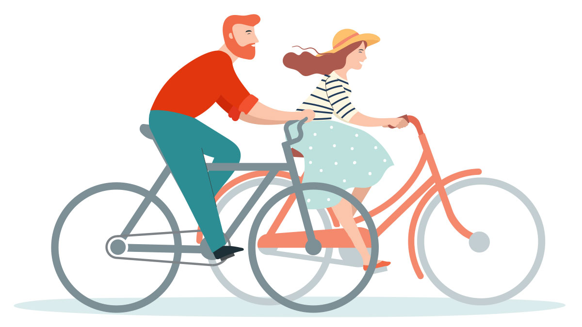 Set Goals for Your Marriage - Couple on Bikes